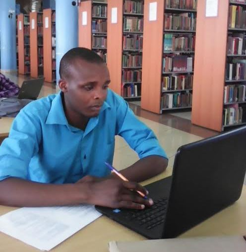 Victor : Study time @ Kenyatta University Post Modern Library